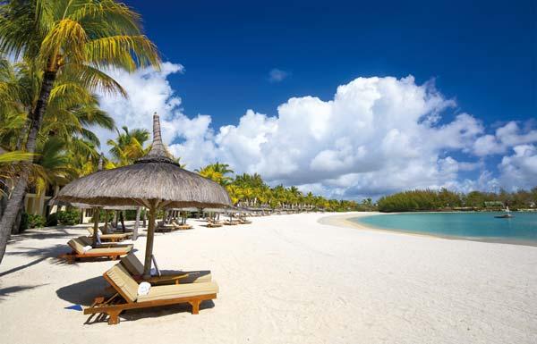Feinster Sandstrand auf Mauritius